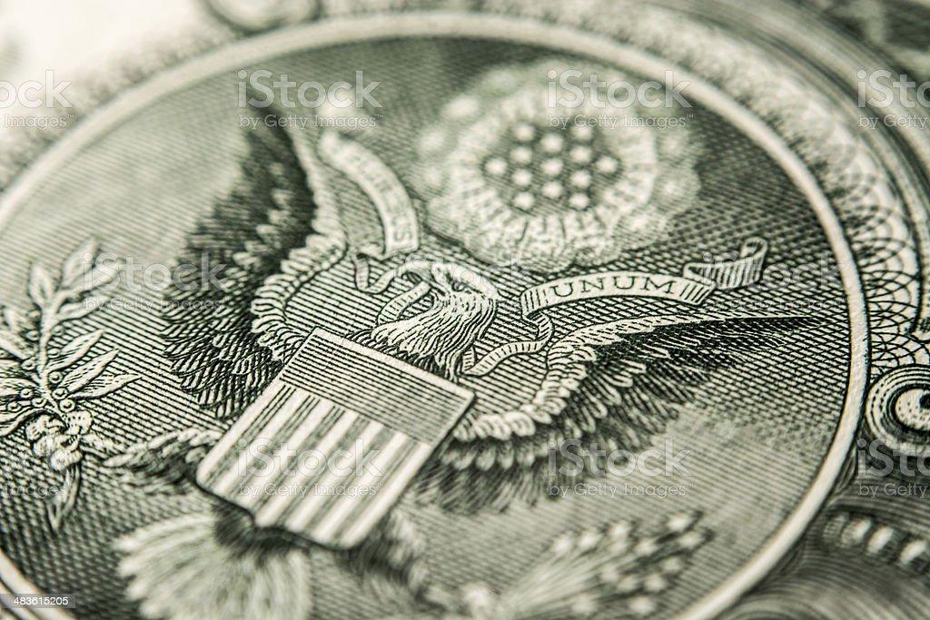 US dollar bill, eagle stock photo