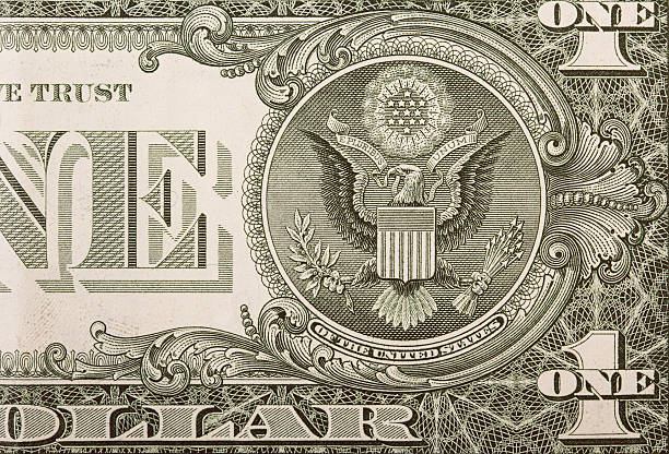 Dollar Bill Eagle stock photo