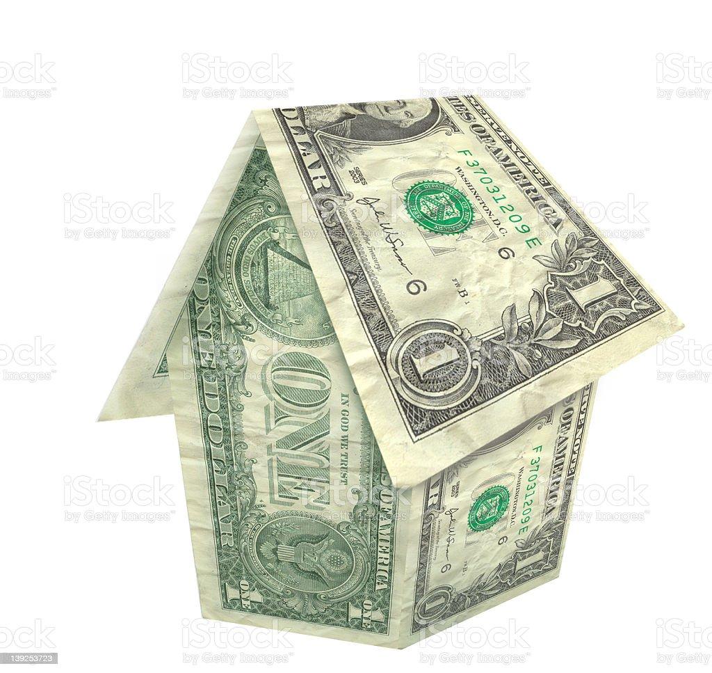 Dollar Bill House - 3D! royalty-free stock photo
