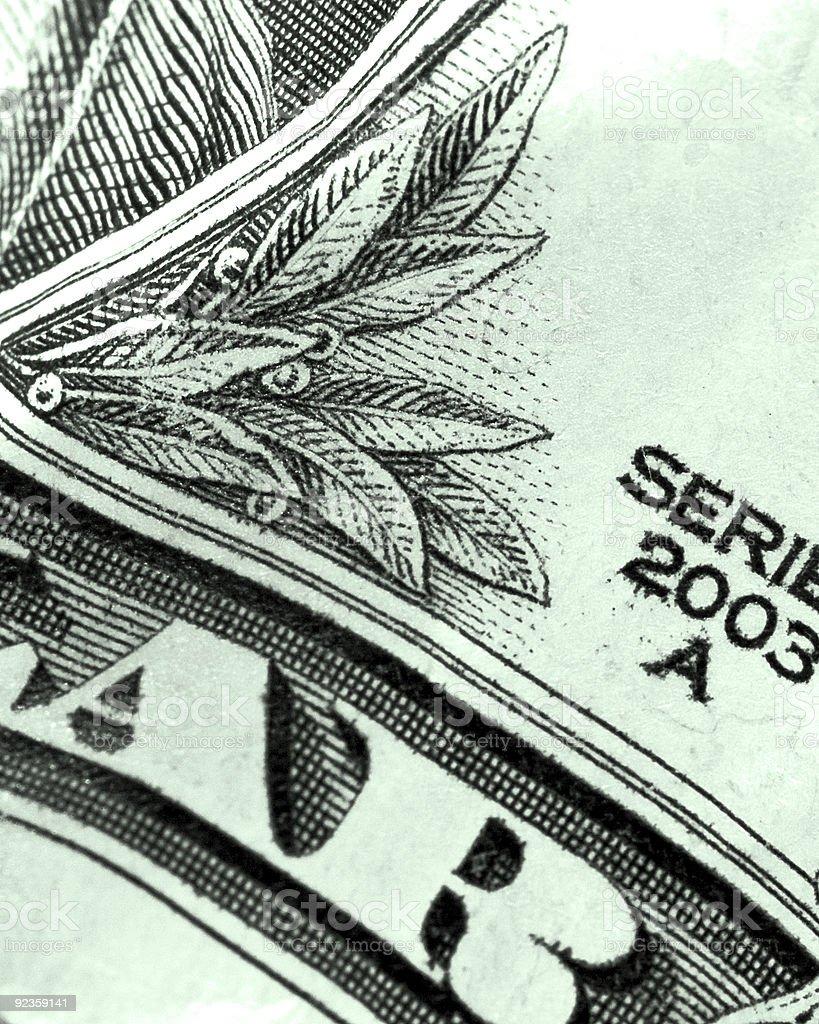 Dollar Bill Macro-1 stock photo