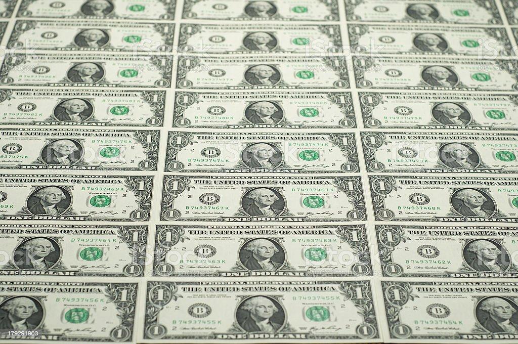 Dollar bill notes royalty-free stock photo
