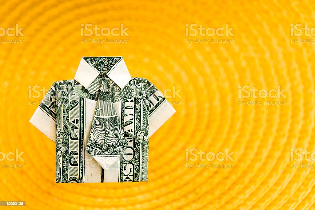 Dollar Bill Origami Shirt Stock Photo More Pictures Of 2015 Istock