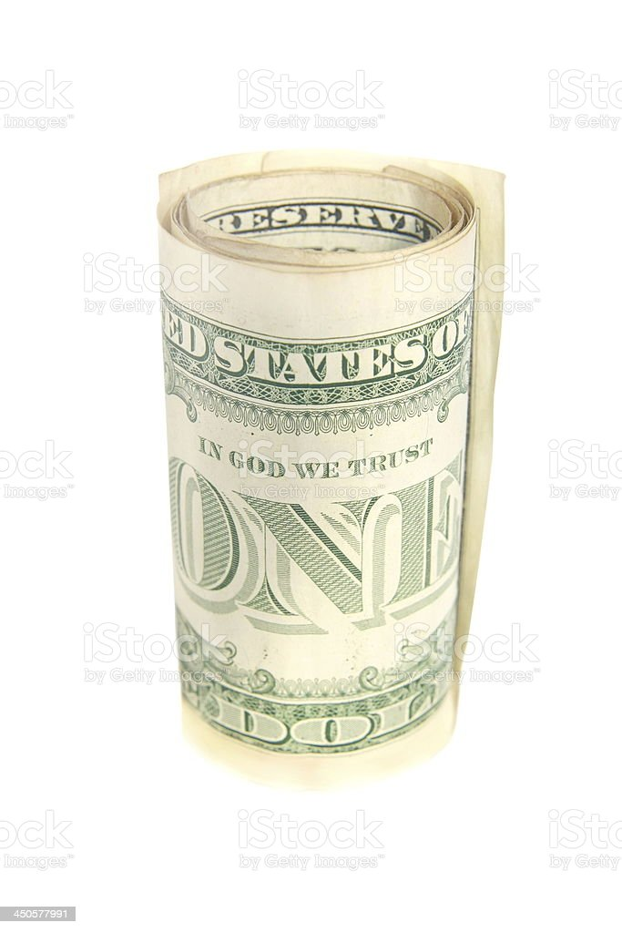 US dollar bill royalty-free stock photo
