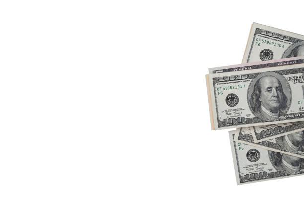 us-dollar-schein mit beschneidungspfad. - sterntaler stock-fotos und bilder