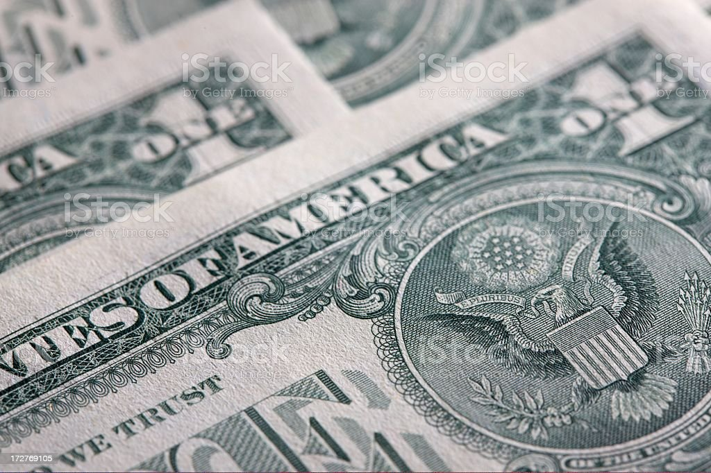 US dollar bills royalty-free stock photo