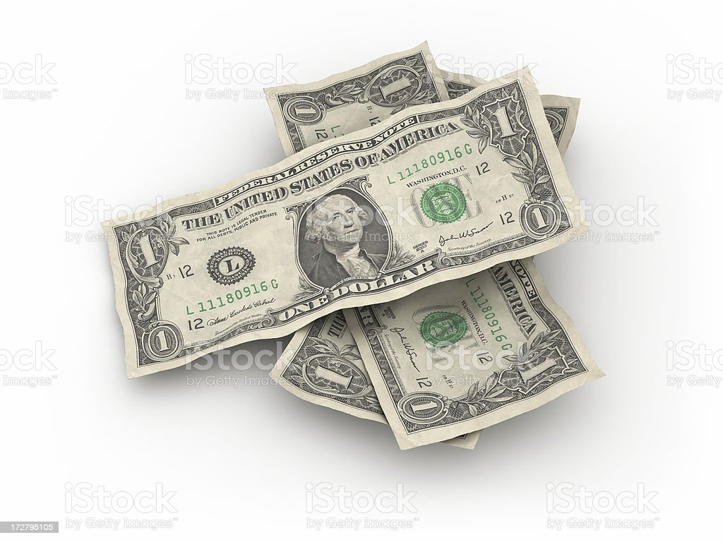 dollar bills royalty-free stock photo