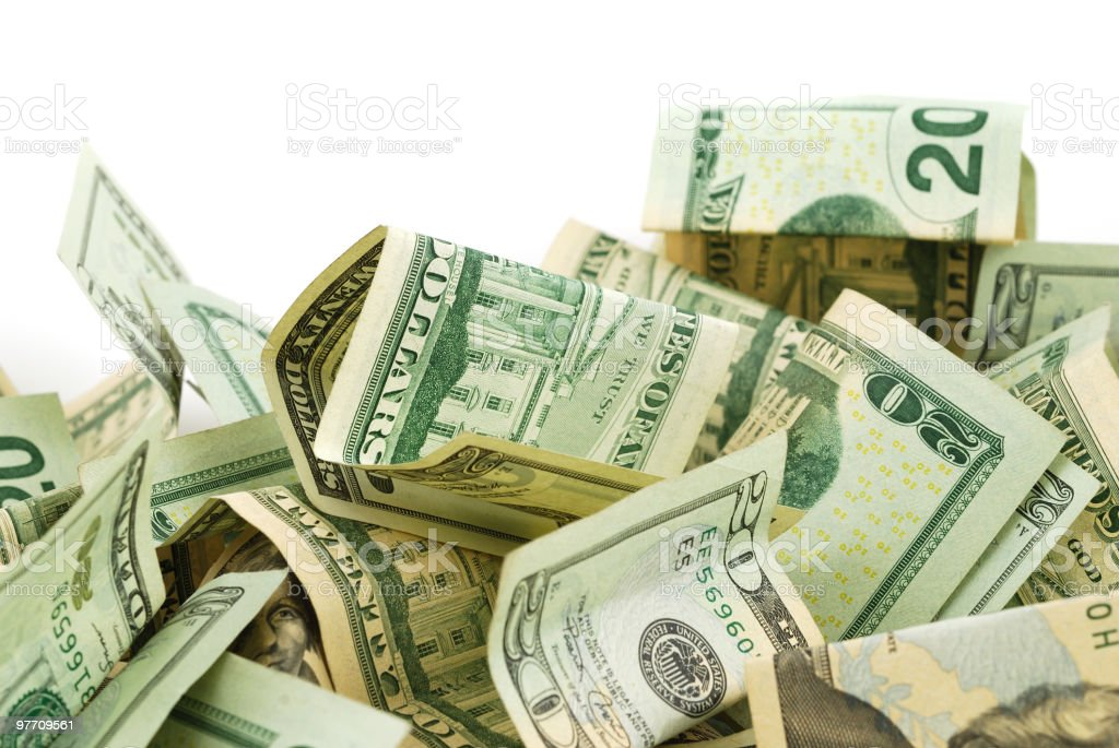 US Dollar Bills royalty-free stock photo