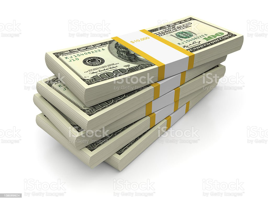 Dollar bills stacks royalty-free stock photo