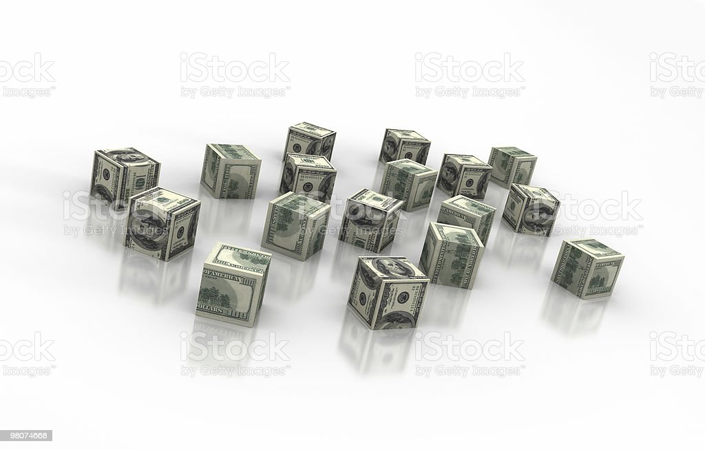 Dollar Blocks royalty-free stock photo