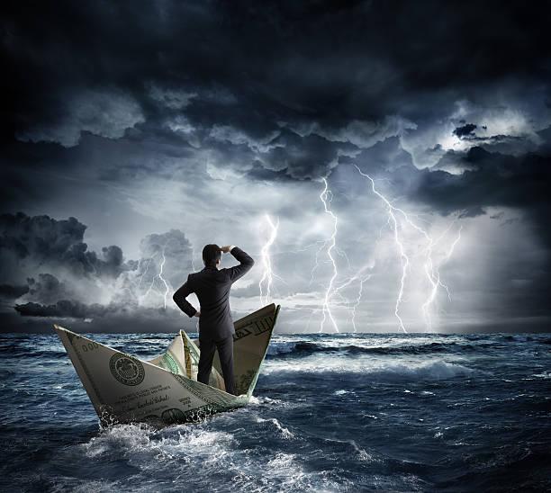 dollar bateau dans le mauvais temps - Photo