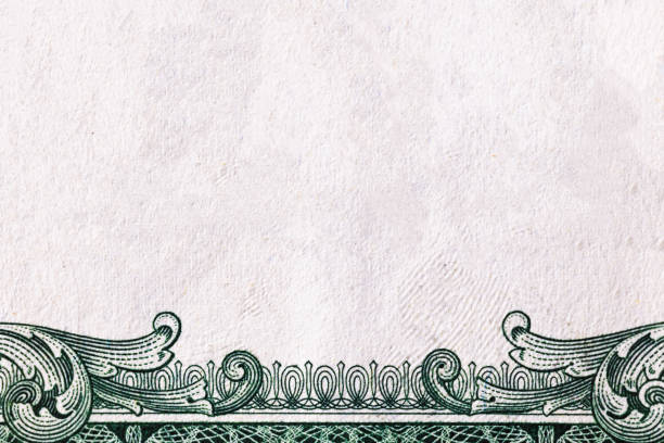 u.s. dollar border with empty middle area - dollar bill stock pictures, royalty-free photos & images
