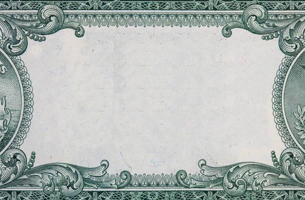 граница доллара сша с пустой средней зоной - money стоковые фото и изображения