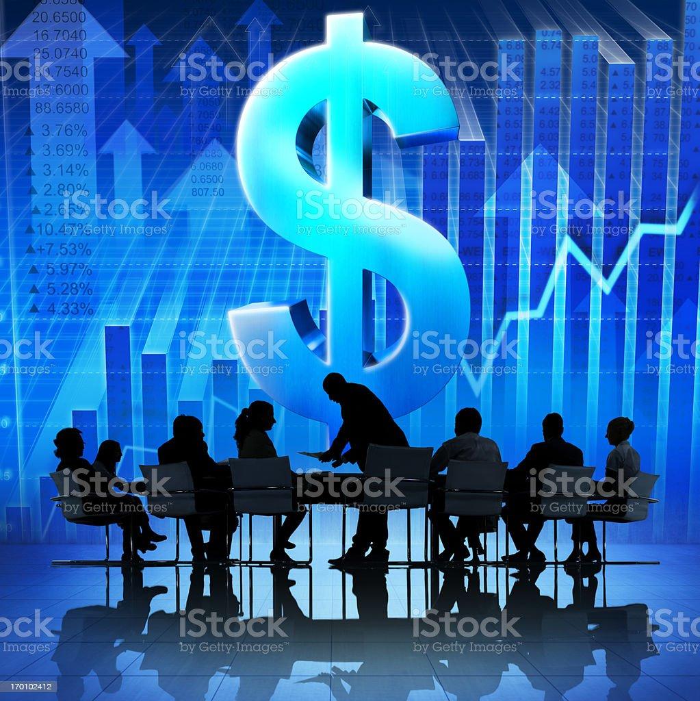 Dollar Business. royalty-free stock photo