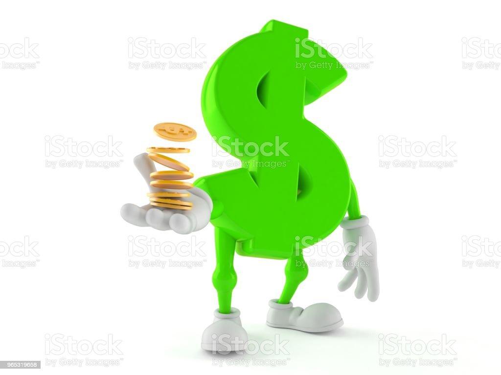Caractère de dollar avec des pièces - Photo de Acheter libre de droits