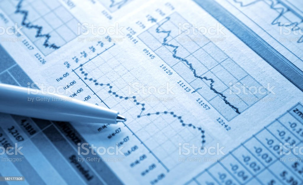 Dollar Chart royalty-free stock photo