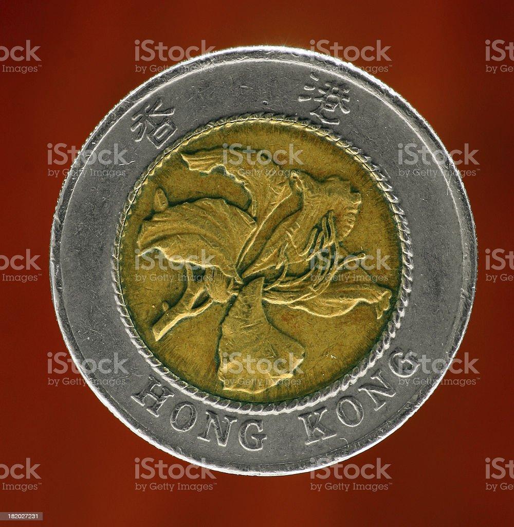 HK 10 Dollar Coin (reverse) royalty-free stock photo