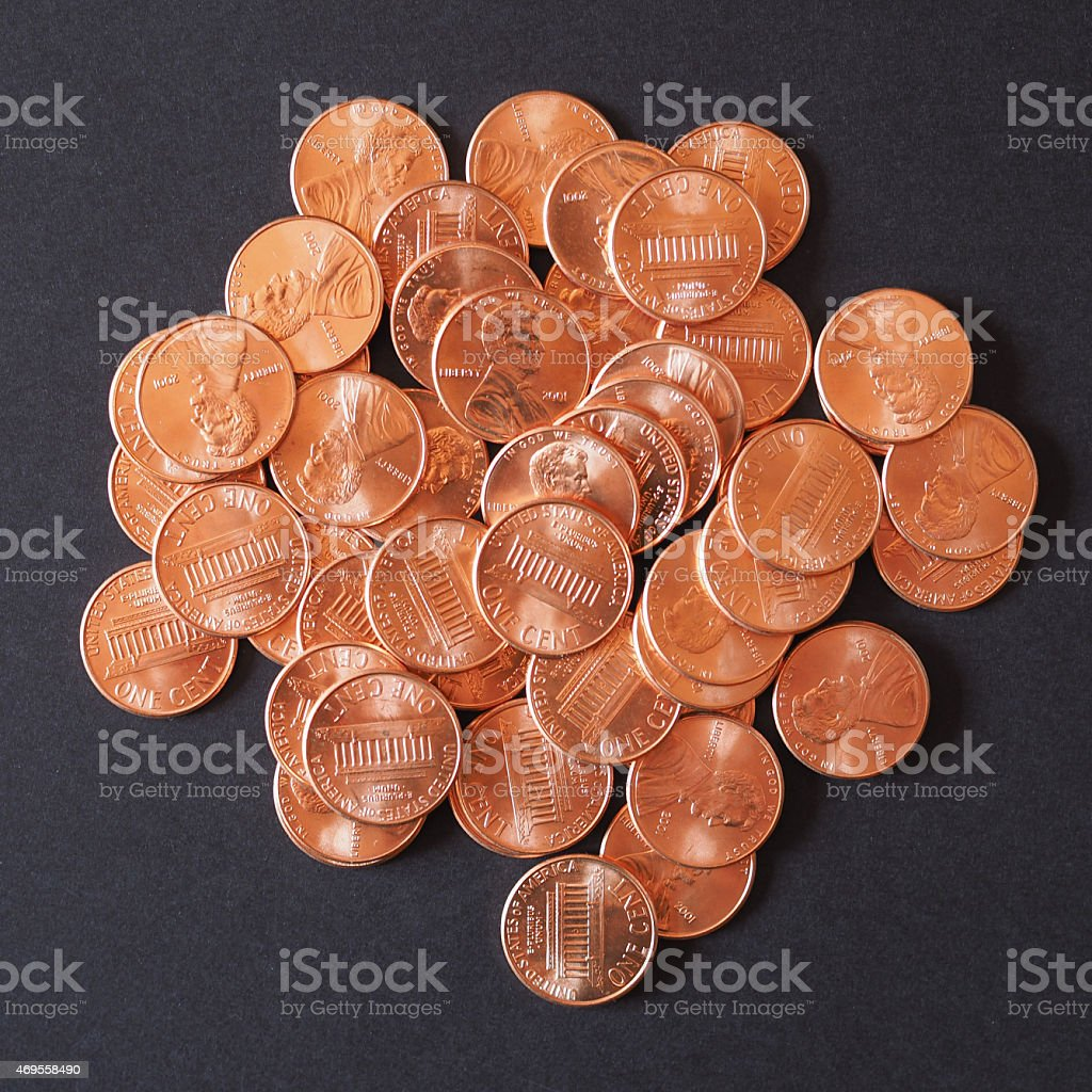 Dollar Coins 1 Cent Wheat Penny Cent Stock Photo & More Pictures of