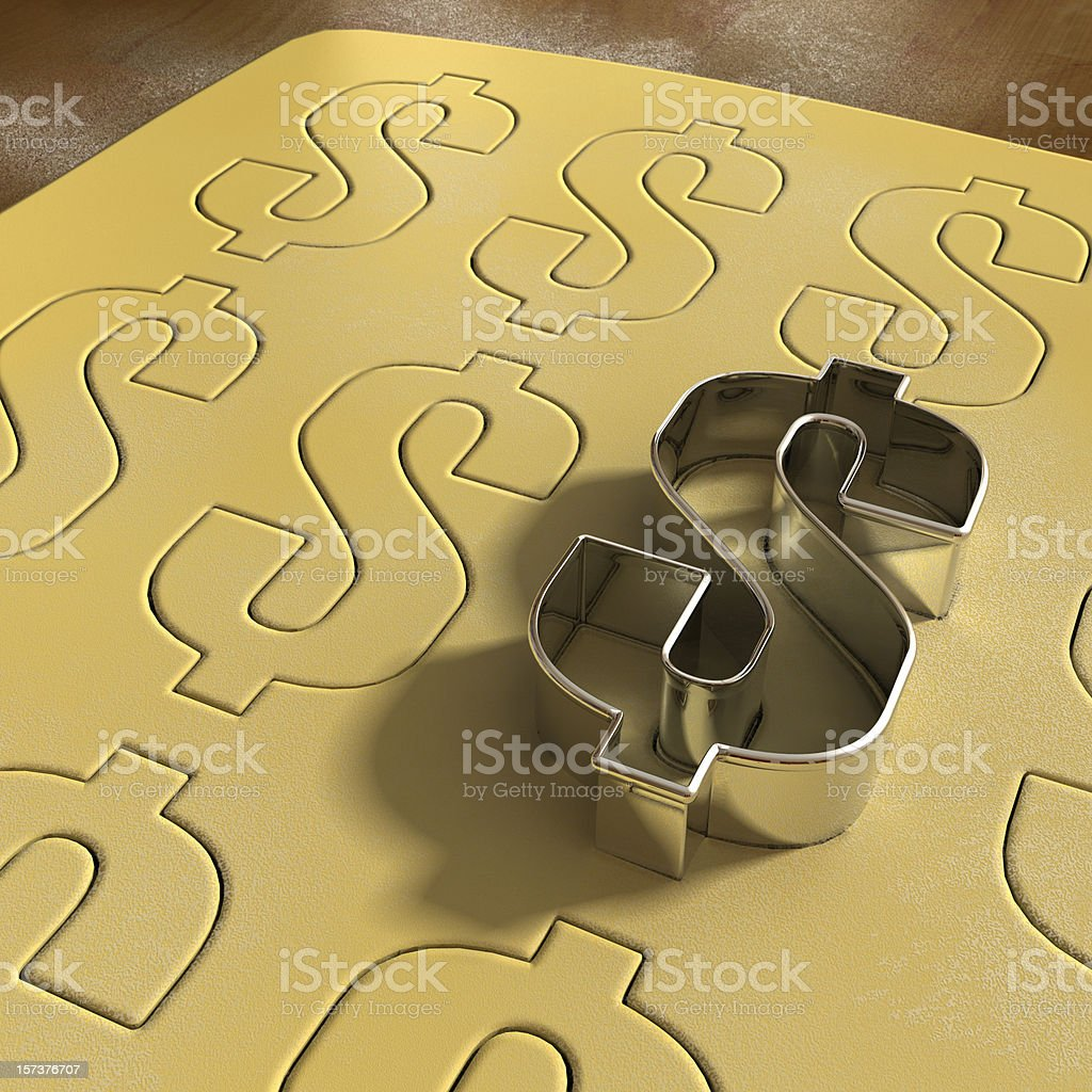 Dollar Cookie Cutter stock photo