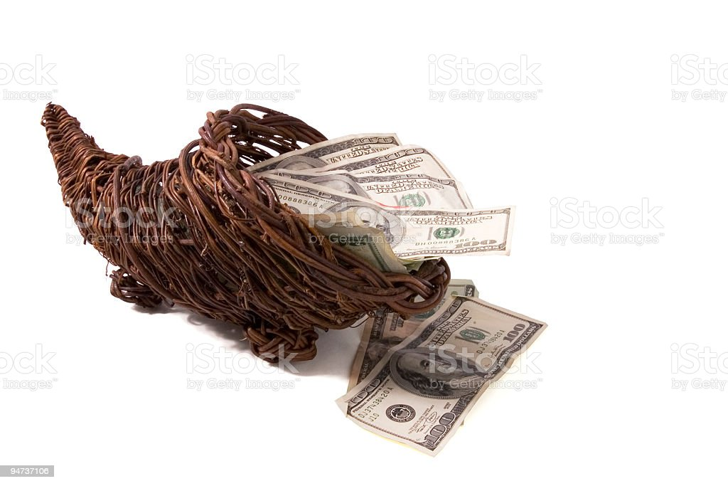 Dollar Cornucopia stock photo