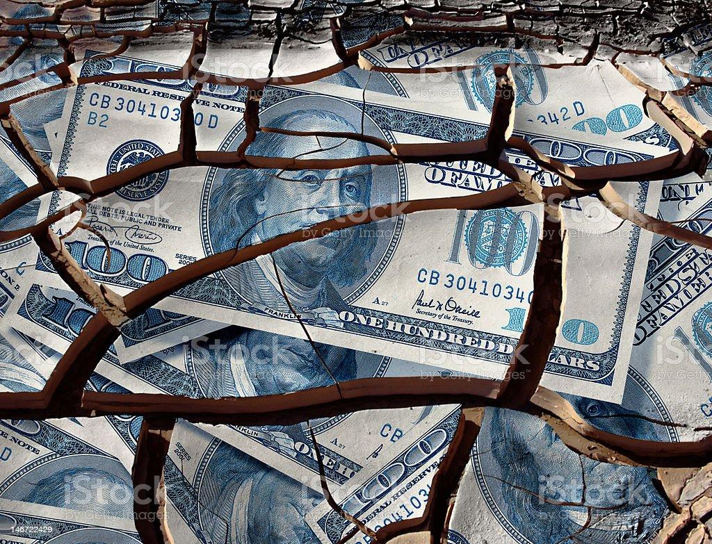 dollar crash stock photo