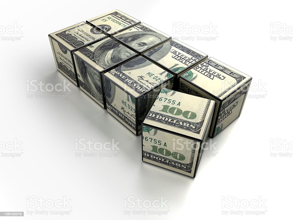 dollar cubes royalty-free stock photo