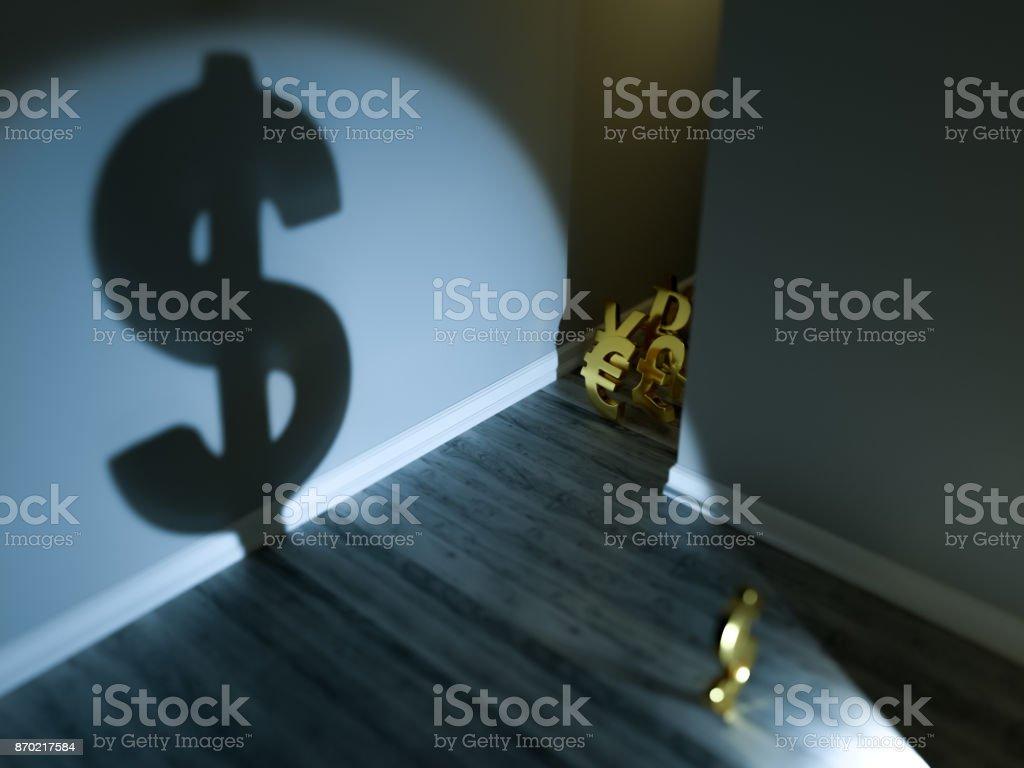 Dollar Currency Nightmare stock photo