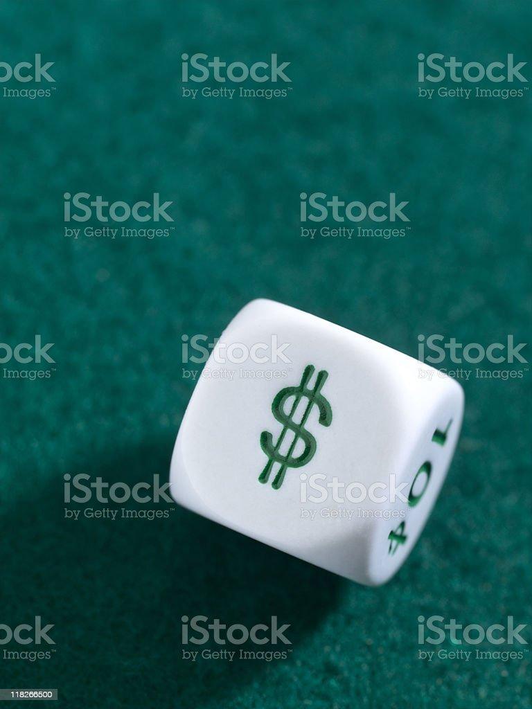 Dollar Dice stock photo