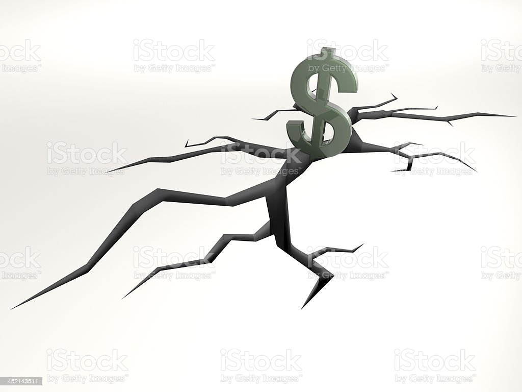 dollar falling stock photo