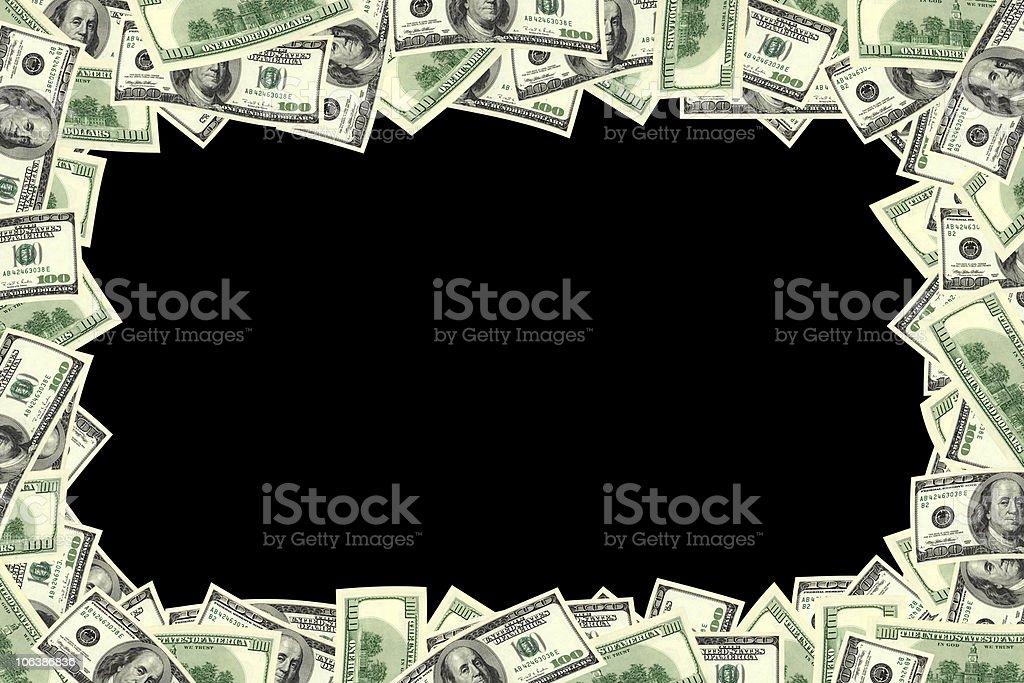 dollar frame royalty-free stock photo