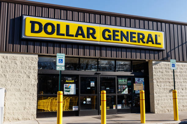 Dollar General Retail Location. Dollar General is a Small-Box Discount Retailer I stock photo