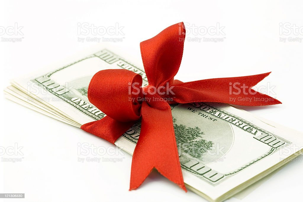 dollar gift royalty-free stock photo