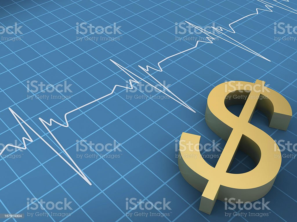 Dollar Graph royalty-free stock photo