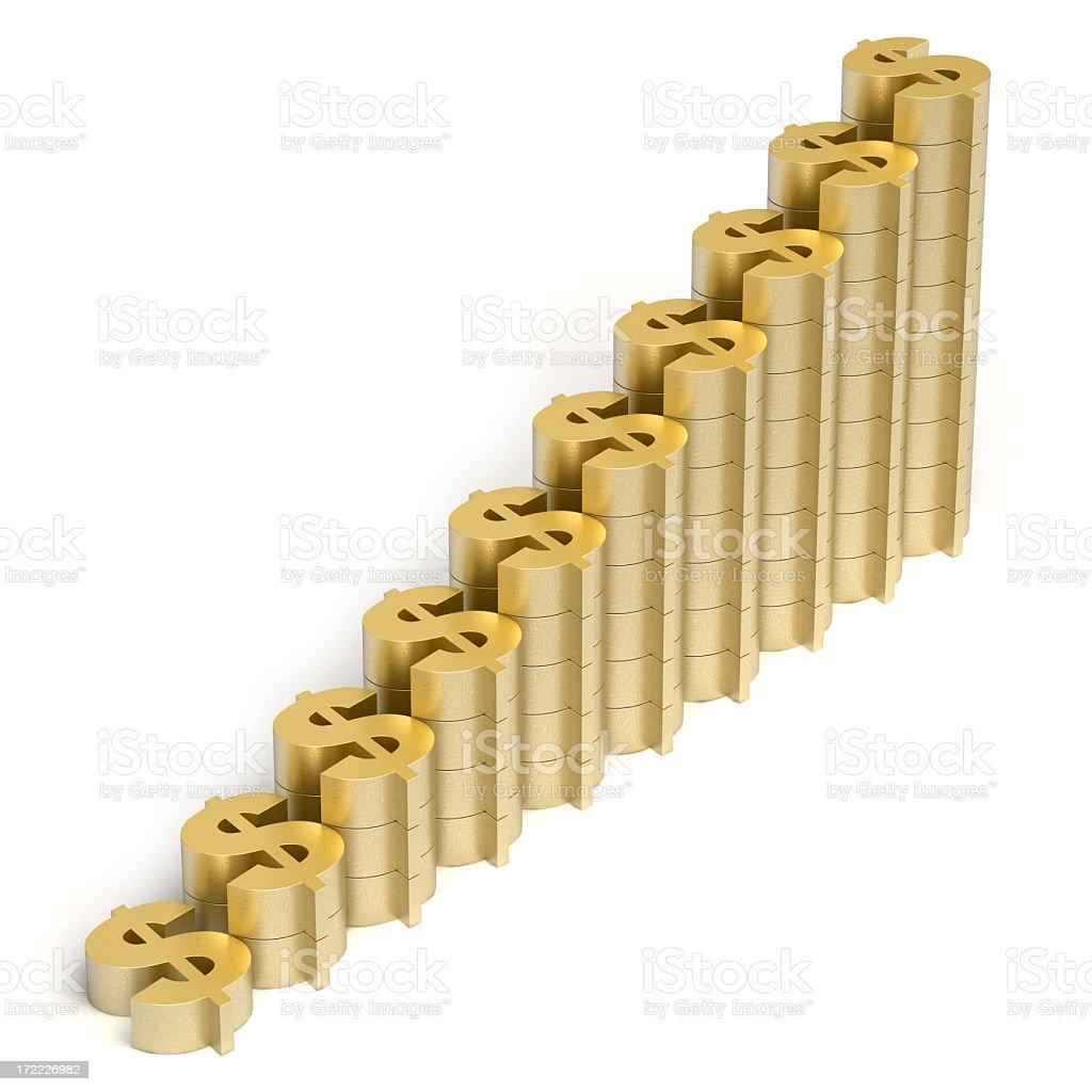 dollar graph royalty-free stock photo
