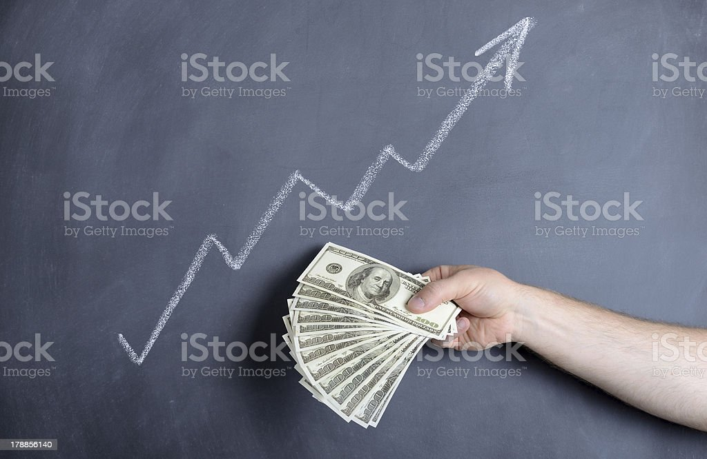 dollar growth royalty-free stock photo