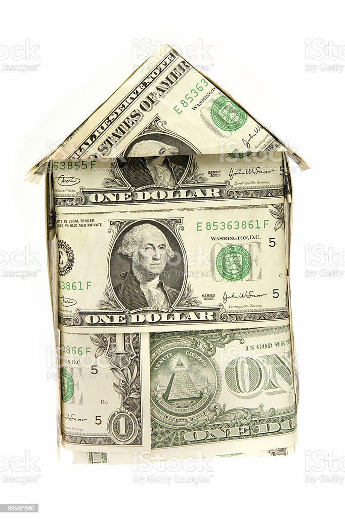 Casa di dollaro foto stock royalty-free