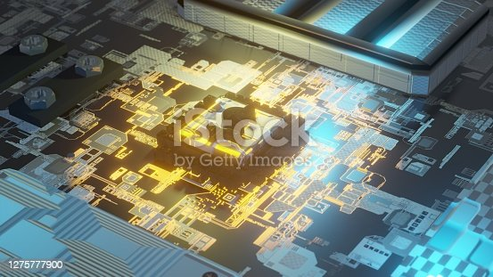 Dollar icon circuit board animation background