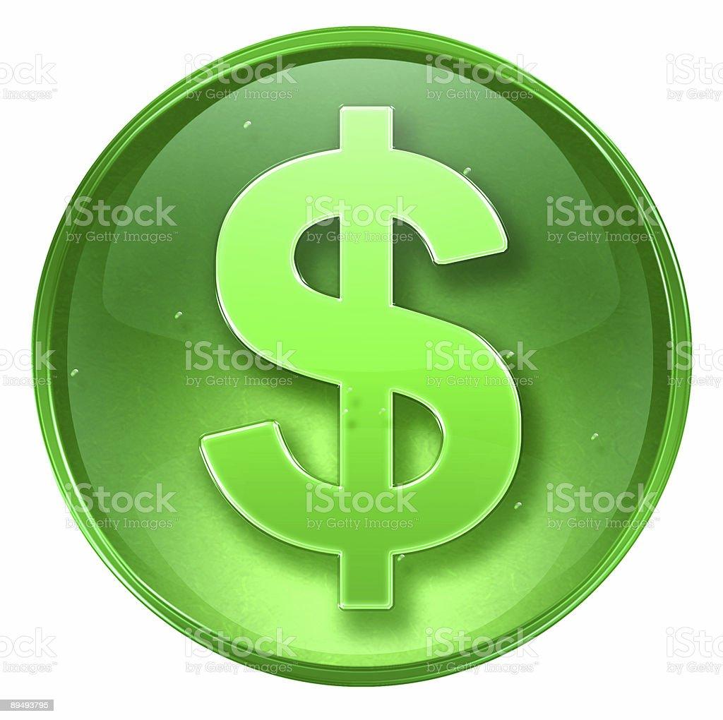 dollar icon isolated on white background royalty-free stock photo