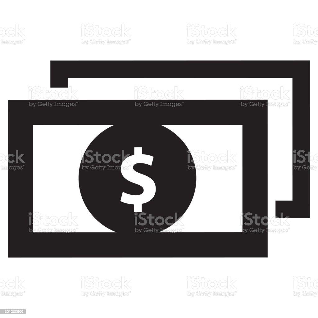 dollar icon stock photo