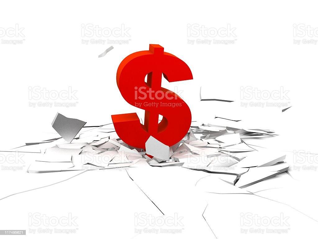 dollar impact stock photo