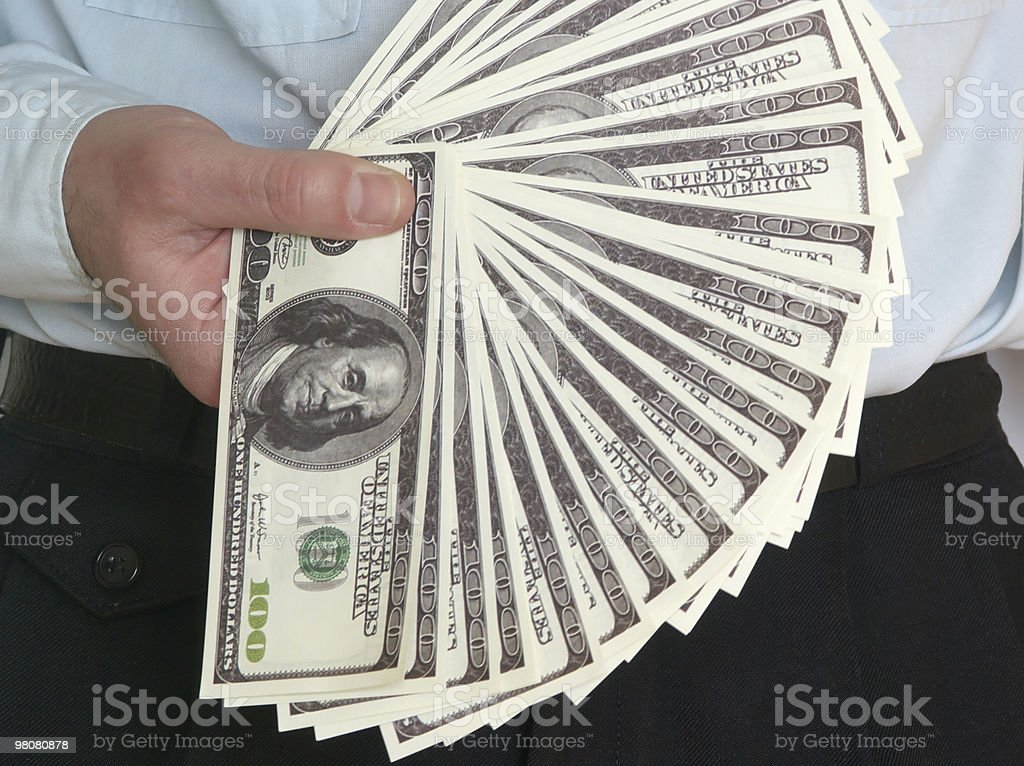 Dollar in a hands royalty-free stock photo