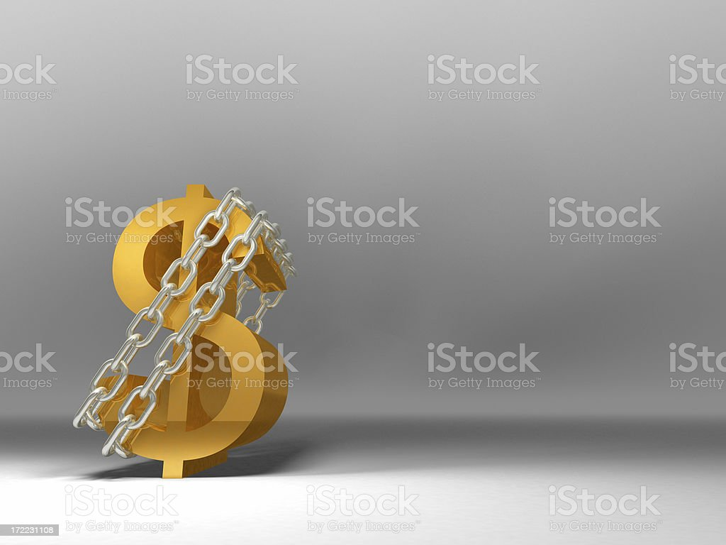 Dollar In Chains royalty-free stock photo
