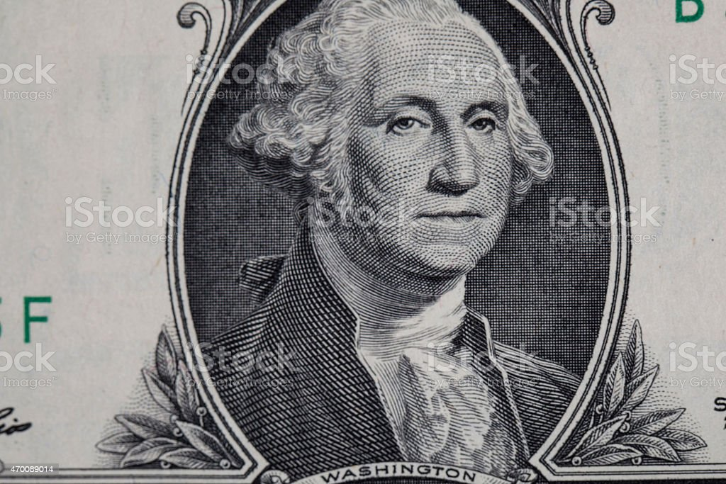 USA dollar in macro shot stock photo