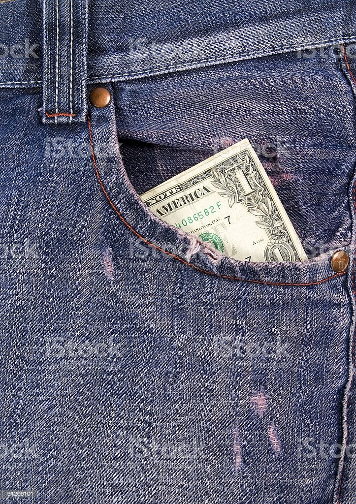 Dollar In Pocket. royalty-free stock photo