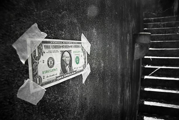 dollar in the dungeon - dirty money bildbanksfoton och bilder