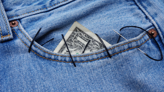 Dollar In The Pocket Stock Photo - Download Image Now