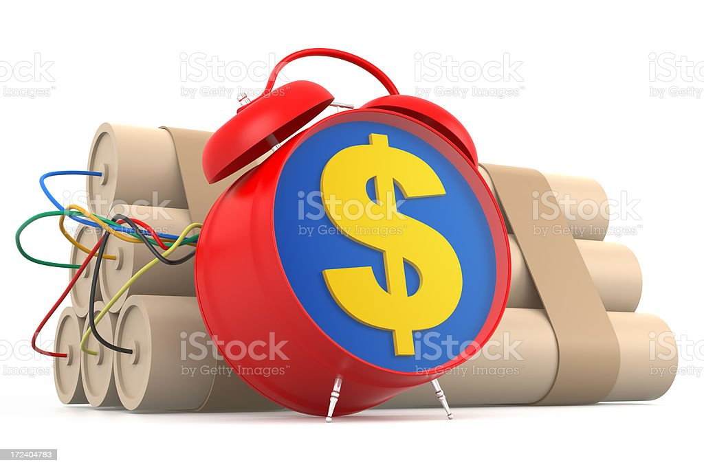 Dollar is a Time Bomb royalty-free stock photo