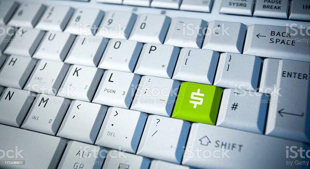 Dollar Key stock photo