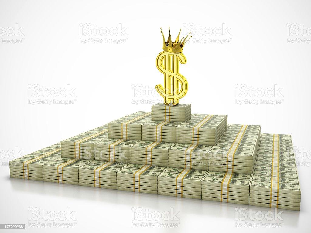 Dollar king royalty-free stock photo