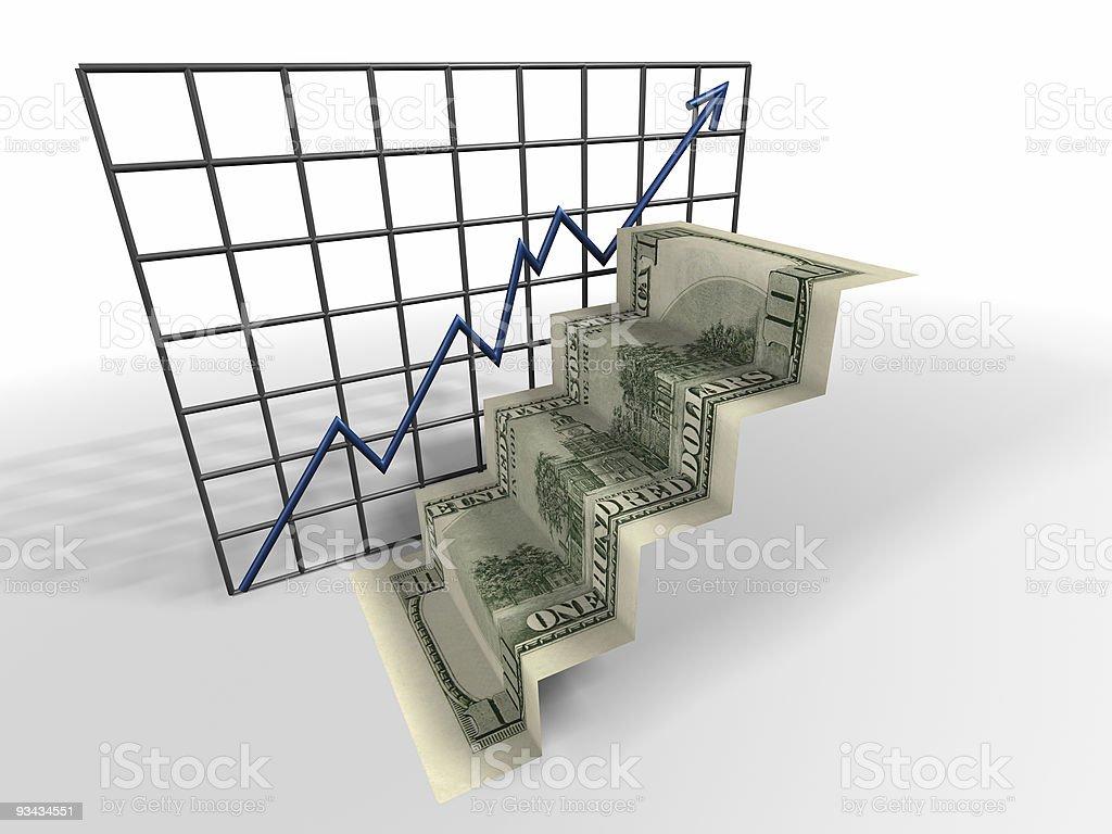 Dollar ladder royalty-free stock photo