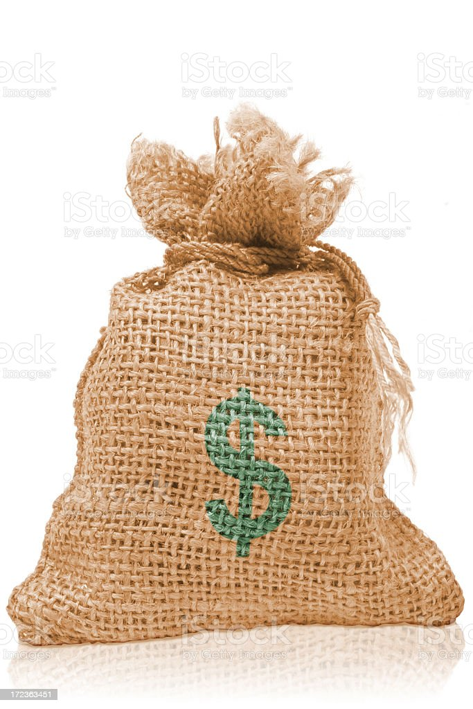 Dollar Money Bag royalty-free stock photo